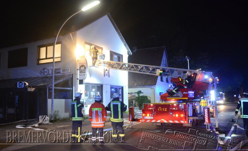 Brennt Gebäude